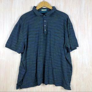 Tommy Bahama Blue Green Polo Mens Silk Blend Shirt